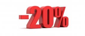 - 20% na web